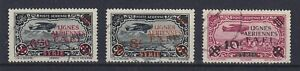 SYRIA SYRIE 1942, AIR MAIL, SET OF 3