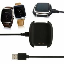 Black Smart Watch Charger Charging Dock Cradle + USB Cable for ASUS ZenWatch New