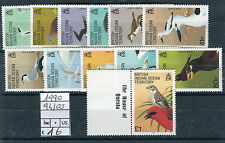 BIOT ocean indian territory 1990 serie corrente uccelli definitive birds mnh
