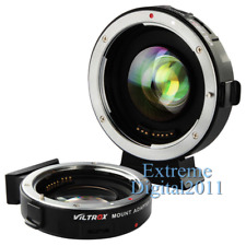 Viltrox EF-M2 AF Adapter Focal Reducer Booster For Canon EOS EF Lens to M43 MFT