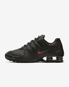 Nike Shox NZ BLACK VARSITY RED BRED 378341-017 sz 8.5 Men's Running Retro OG 90s