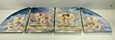 2000 Bradford Exchange Angels Bless Our Home Plate Set Of 4 By Dona Gelsinger