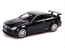 Mercedes Benz C63 AMG Diecast Model Toy Car Sound Light Pullback Black