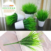 Green Grass Flowers Plant Artificia Plastic Office Home Garden Decoration U87