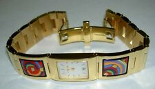 FREY WILLE Hommage à Hundertwasser Spiral of Life Enamel Wrist Watch New in Box