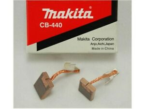 GENUINE MAKITA CARBON BRUSH SET PAIR CB440 CB-440 194427-5 - BHP458, BJS130 etc.