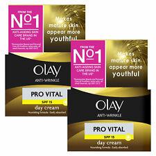 Olay Anti-Wrinkle Anti-Ageing Day Cream, Pro Vital SPF 15, 2 Pack, 50ml