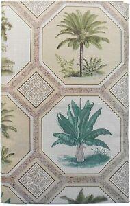 Tropcial Palm Trees  Flannel Back Vinyl Tablecloths  Asst. Sizes Oblong & Rd.