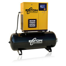 75 Hp Rotary Screw Air Compressor With 80 Gallon Tank 3 Phase Fixed Speed