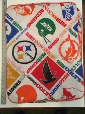 Vintage 70s 80s Sears NFL football Pillow Cases Shams Oilers Steelers Chiefs