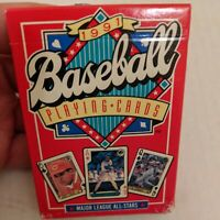 SET OF 1991 MAJOR LEAGUE ALL-STARS BASEBALL CARDS PLAYING Cards Complete