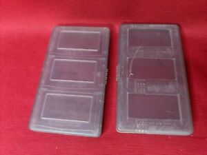 Lot of 2 Official Nintendo Gameboy Advance GBA 3 Game Plastic Case Holder