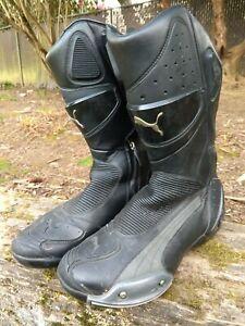 PUMA Desmo v2 motorcycle boots, silver-grey, UK10/EU44/US11
