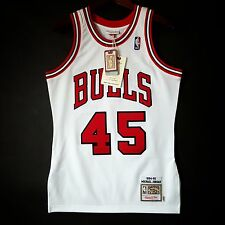 100% Authentic Michael Jordan Mitchell Ness 94 95 Bulls Jersey Size 36 S hwf