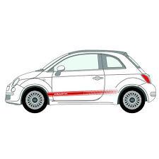 Per FIAT 500 ABARTH AUTO Vinile 2 Strisce Kit Corpo Pannello Adesivi Decalcomanie Grafiche