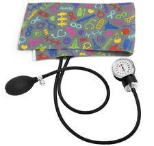 Prestige Medical Blood Pressure Cuff, Medical Symbols Pewter  * NEW PRINT *