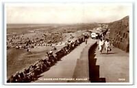 Vintage Picture Postcard The Sands and Foreshore Bispham Blackpool real photo