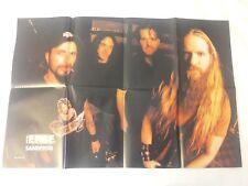 RARE Sandfrog Metal Edge Mag Centerfold Poster* Scott Spezio Zakk Wylde AIC Ozzy