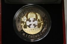 GIBRALTAR 2001 1 CROWN TRI COLOR SILVER COIN 21ST CENTURY ONLY 2001 MINTD RARET9