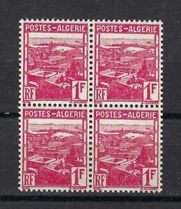 Algeria 1941 Sc# 134 View of Algiers 1fr French colony block 4 MNH