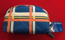Sonia Kashuk Double-Zip Clutch in Plaid (Blue)-NWT-$16 Retail-Free Shipping!