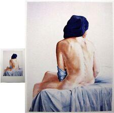 Nu 1974 Oscar de Witt reproduction d'aquarelle 20x26cm