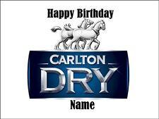 CARLTON DRY BEER A4 REAL KOPYKAKE EDIBLE ICING IMAGE BIRTHDAY  CAKE TOPPER