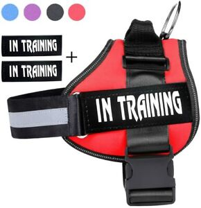 Adjustable Large Dog Harness Soft Vest With Removable Service Dog Patches M L XL