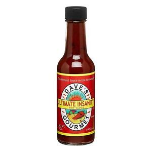 Dave's Gourmet Ultimate Insantity Hot Sauce 148ml Extra Spicy Chilli Condiment