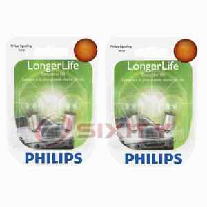 2 pc Philips Parking Light Bulbs for Jaguar XKE 1969-1974 Electrical wr