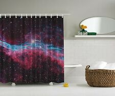 Purple Cosmos Outer Space Stars Fabric Shower Curtain Digital Art Bathroom