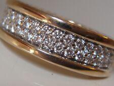 $6900 DAVID YURMAN 18K GOLD STREAMLINE WHITE DIAMOND RING