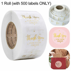 500Pcs Christmas Round Thank You for Your Order Labels Stickers Gift Craft Box