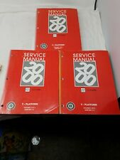 2000 CHEVROLET CORVETTE SERVICE SHOP MANUAL VOLUME 1,2,3