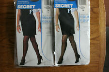 2 Pair of SECRET Plus Pantyhose1X Queen NIP