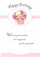 Happy Birthday Brown Bear With Flower Bouquet Hallmark Greeting Card