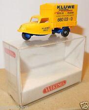 MICRO WIKING HO 1/87 GOLI DREIRAD TRICYCLE KLUWE BERLIN RUDOW JAUNE IN BOX