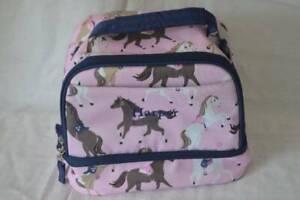 Pottery Barn Kids Mackenzie Dual Compartment Lunch Bag Horses Harper Monogram