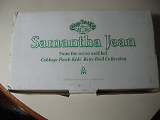 """12"""" Danbury Mint: Cabbage Patch (Samantha Jean) Porcelain Doll, New in box"""