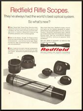 Vintage 1968 American Rifleman magazine ad Redfield Rifle Scopes