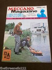 MECCANO MAGAZINE - SIMPLE STEAM ENGINE - JAN 1970