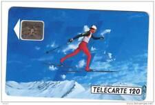 206 F206 - 11/91 - TELECARTE 120 - SKI DE FOND - n° 32405 - Flèche mal centrée p