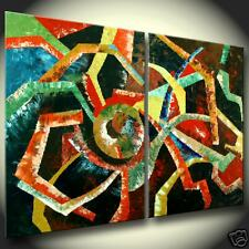 Original Oil Painting Abstract modern Paintings Red Contemporary Art Gallery