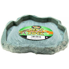 ZOO MED REPTI ROCK FOOD GREEN OR RED DISH REPTILE FOOD TREATS FREE SHIP TO USA