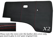 RED STITCH 2X DOOR CARDS LEATHER SKIN COVERS FITS VW T25 T3 WESTFALIA CAMPER