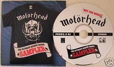 Motorhead Ultimate Reissue Sampler 12-Track Promo CD In Custom Picture Sleeve