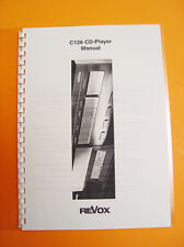 ReVox C126  CD player Manual