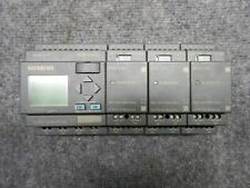 Siemens LOGOI 24RC 6ED1 052-1 HB00-0BA4 with 3x DM8 24R 055-1 HB00-0BA0 Modules