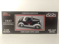 Racing Champions 1937 Chevy Convertible Coin Bank With Lock 1:25 Scale Diecast