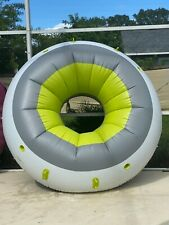 Rare Bestway Inflatable 10ft Matte Tube Heat Stretched Pool Float Raft Island